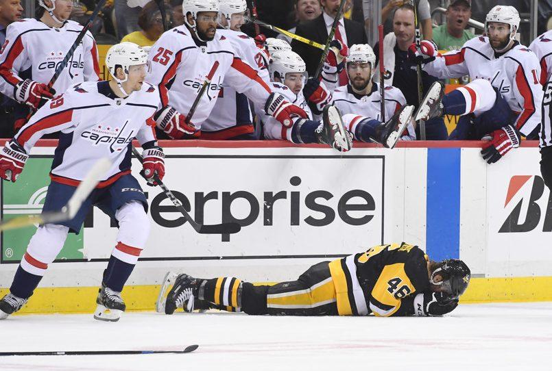 0c5177d1cf6 Tom Wilson hits Zach Aston-Reese: Photo by Jeanine Leech/Icon Sportswire